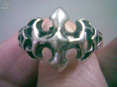 ABRSM-C004 Celtic Style Silver Metal Ring Size 8.5