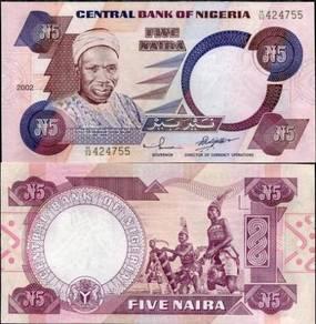 Nigeria 5 naira 2002 p 24 unc