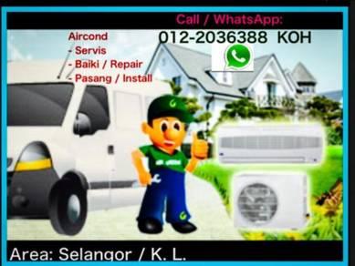 SEL/KL Aircond servicing / Air con AIRCOND
