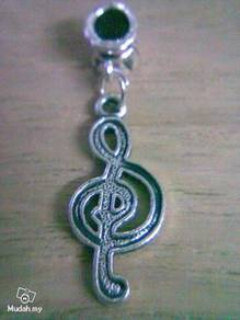 ABPSM-M001 SilverMetal Music Note Pendant Necklace