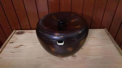 Aipj wood big rice bowl server container