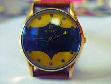 Rivoli Quartz Dual Tone Dial Yellow-Blue Watch