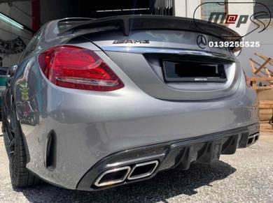 Mercedes benz w205 carbon rear diffuser