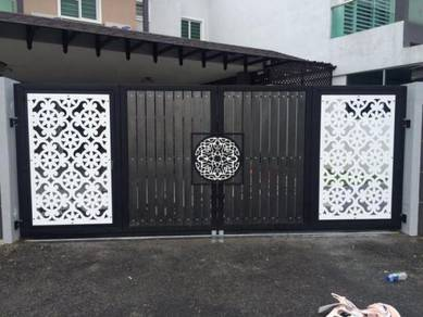 Pintu Pagar bunga modern