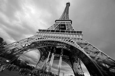 Poster EIFFEL TOWER PARIS BW
