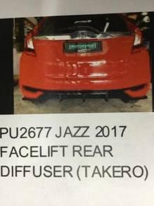 Honda jazz 17~19 rear diffuser takero pu material