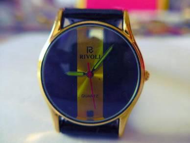 Rivoli Quartz Dual Tone Dial Yellow-Purple Watch