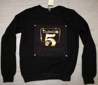Black gold 3d soft long sleeve top sweater jacket