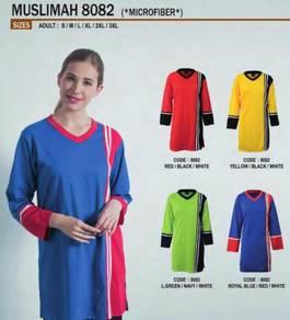 Baju Tshirt Muslimah kod 8082 material Microfiber