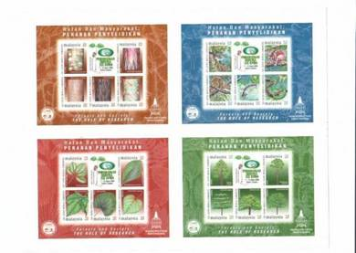 Mint Stamp Sheet Impef Role Research Malaysia 2000