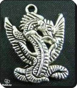ABPSM-D005 Silver Metal Flying Dragon Pendant Neck