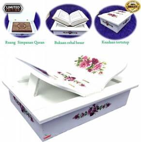 Rehal box kayu quran holder book stand rihal kawin