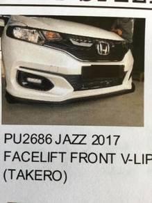 Honda jazz 17~19 takero front v lip without paint