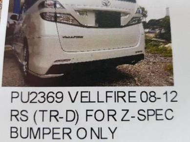 Toyota vellfire 08-12 rear skirt Pu material