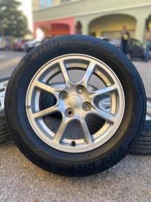 Original 14 inch sports rim bezza tyre 80%