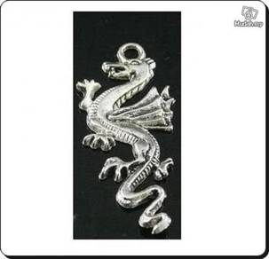 ABPSM-D006 Silver Metal Flying Dragon Pendant Neck