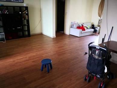 Vinyl Floor Lantai Timber Laminate PVC Floor M417