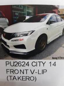 Honda city 2014 pu front skirt v lip takero