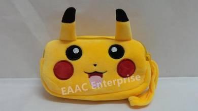 Cute Cartoon Pokemon Pikachu Plush Pencil Box Case