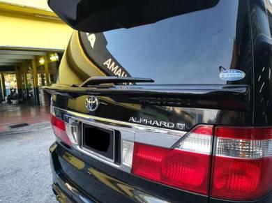Toyota Alphard 03 05 middle trunk spoiler bodykit