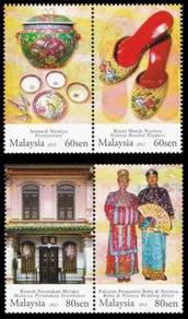 Mint Stamp Baba Nyonya Heritage Malaysia 2013