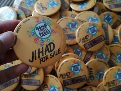 Pin Button Badge - ADH - JIHAD FOR SALE