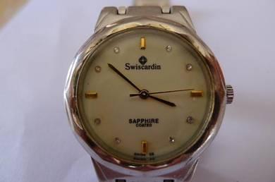 Swiscardin Round White Dial Watch