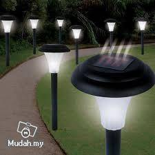 Solar Garden Lawn Light - 30CM Tall