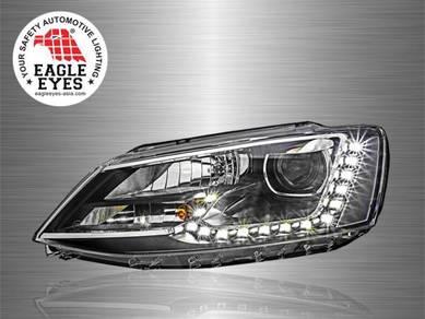 VW Jetta Projector LED DRL Head Lamp 11~16