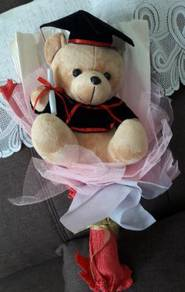 Graduation teddy bear bouquet