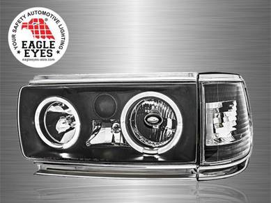 Land Cruiser FJ82 Crystal LED Angle Eyes Head Lamp