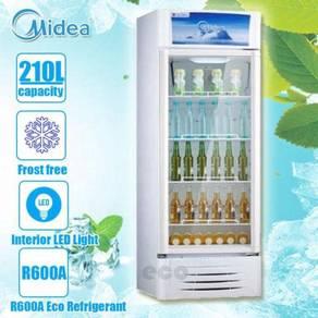 Midea Showcase Chiller R600A Eco Refrigerant 210L