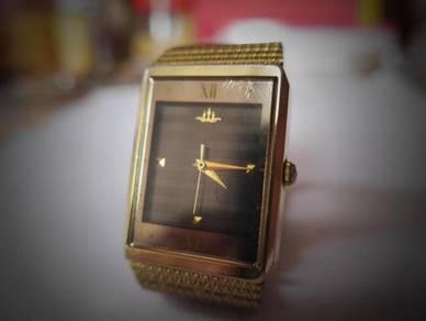Seiko Quartz Black-Gray Rectangular Watch