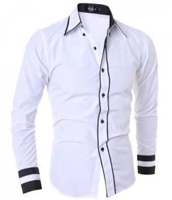 S60078 White Man Formal Casual Long-Sleeve Shirt