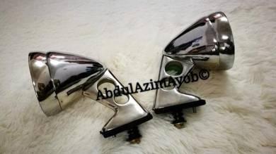 Side Mirror Fender Oldskool tanduk Rare