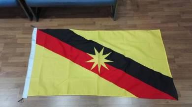 3' x 6' Bendera Sarawak Woollen