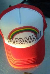 Hawaii Rainbow Vintage Design trucker Cap Topi