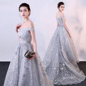 Silver Wedding bridal prom dress gown RBP0744