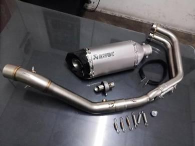 Ekzos exhaust yahama r25 full system plug n play