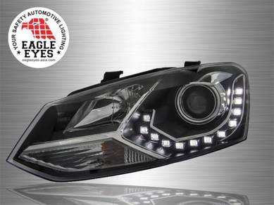 VW Polo Projector LED DRL Head Lamp 09~17