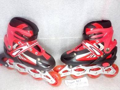 Inline Roller Skate Adjustable kasut roda budak