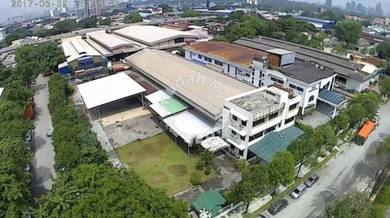 1.4 acre industrial land with building, chan sow lin, cheras, kl city
