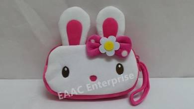 Cute Cartoon Qi Qi Rabbit Plush Pencil Box Case