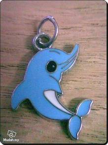ABPSM-D001 Silver Metal Dolphin Pendant Necklace