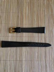 VINTAGE H/Finish Lizard Leather Watch Strap 14mm