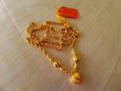 Rantai Leher Chocker Pintal Bubut 5.48g u118 44.4c