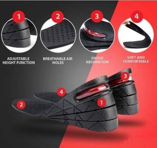 Height Increased 3-9CM Insole Men Women Shoes Pad