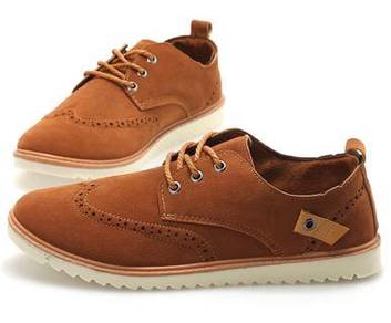 0225 England Classic Style Brown Man Casual Shoes
