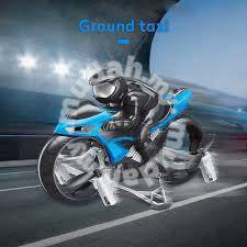 Remote control flying motorcycle