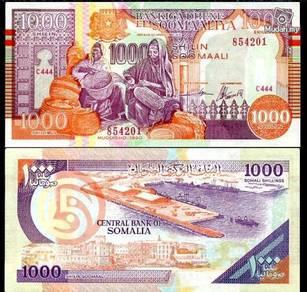 Somalia1,000 shilling 1990 p r10 unc